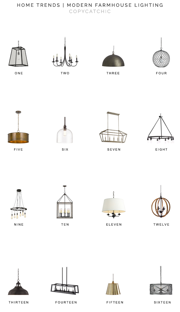 home trends modern farmhouse lighting