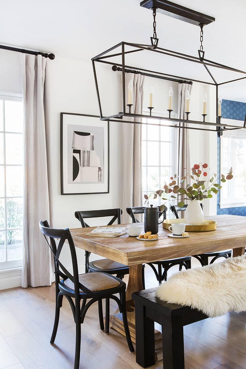 Room Redo | Neutral Scandi Dining Room - copycatchic on Farmhouse Dining Room Curtain Ideas  id=46504