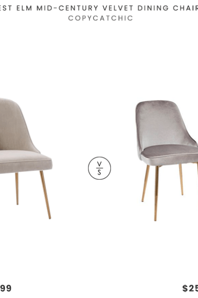 Daily Find West Elm Mid Century Upholstered Dining Chair Copycatchic