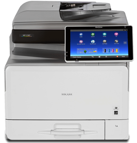 Ricoh MP C307 Copy Texas Copier sales leasing rentals Dallas