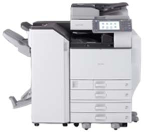 Ricoh Aficio MP C4502 produces 45 color prints/copies per minute.  This machine prints reliably, with better quality. Features a tiltable, full-color control panel features a customizable, personal Home Screen. Automatic duplexing — for both copying and printing. Eco-Friendly!