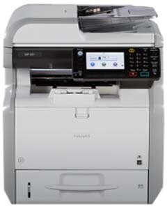 Ricoh MP 401SPF can produce up to 42 black-and-white pages per minute. Copy, print, scan, fax and manage documents up to 8.5″ x 14″ at up to 1200 dpi. Short recovery time of less than 14 seconds from Sleep Mode. This device meets EPEAT® Silver criteria* — a global environmental rating system for electronic products — and is certified with the latest ENERGY STAR™ specifications.