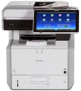 Ricoh 402SPF can produce up to 42 black-and-white pages per minute. Complete jobs faster with a single swipe, scroll or tap on the large, 10.1″ color touchscreen. Copy notes, invoices, presentations and more at sizes up to 8.5″ x 14″ with impressive image resolution up to 1200 dpi.Use the standard Single Pass Document Feeder (SPDF) to convert up to 80 images per minute.