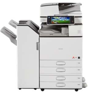 Ricoh MP 5054 prints up to 50 black-and-white prints/copies per minute. Standard 220-Sheet Single Pass Document Feeder (SPDF), which scans up to 180 color or black-and-white images per minute. This machine produces eye-catching black-and-white documents at up to 1200 dpi. Use mobile printing to produce documents from anywhere! Also minimize your operating costs with energy-saving features.