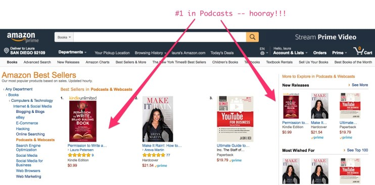 #1 best seller in podcasts and webcasts laura me book 2 permission
