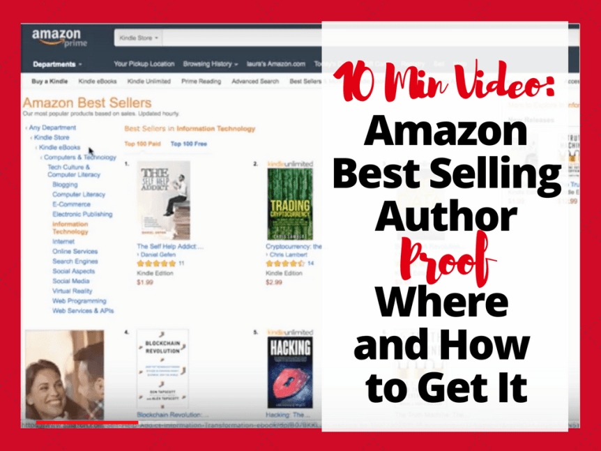 [10min video] Amazon Best Selling Author Proof – Where and how to get screenshot proof of hitting #1 best seller