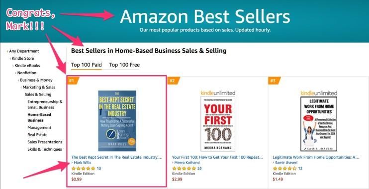 mark wills #1 bestseller in home-based business