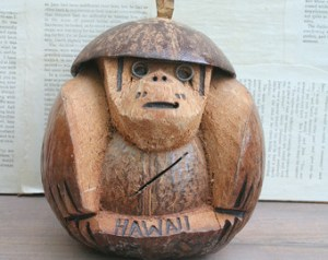 """Nothing says """"I love you"""" like a coconut monkey."""