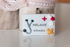 badge infirmiere hopital fimo