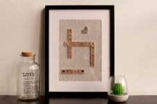 decoration scrabble 4 mots