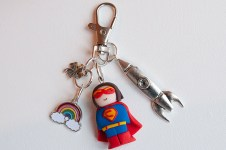 porte cle super heros personnalisable
