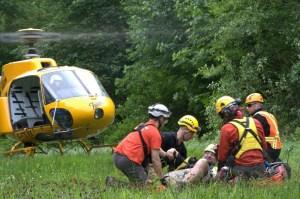Long Line Rescue of Injured Hiker