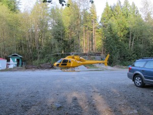 Talon Helicopter using the Gun Club for a landing zone