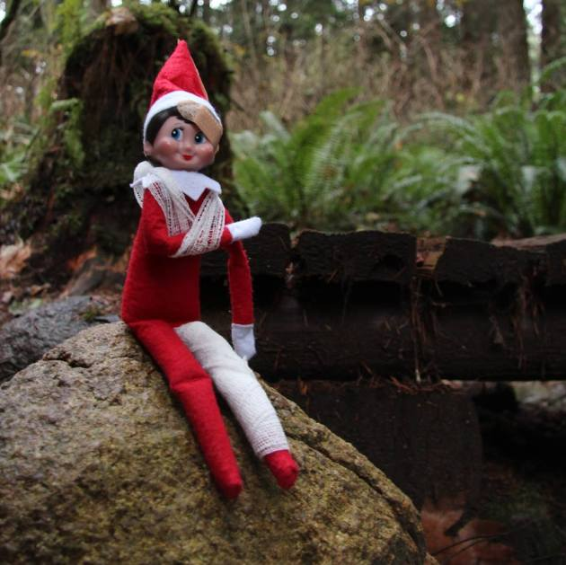 As part of their mandatory polar survival training, elves regularly re-certify in first aid. By carrying a first aid kit and knowing how to use it, an elf is well prepared if an injury does occur. #SARelf #10essentials