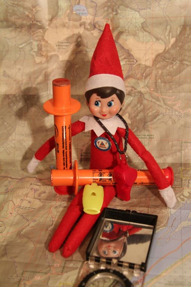 Elves always carry signal devices appropriate for their recreational activity. Elf lungs aren't very loud, so a whistle can attract attention of rescuers from a much further distance in the forest. #SARelf #10essentials