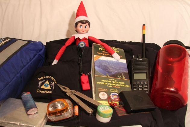 Whenever an elf goes on an outdoor adventure, they always carry the 10 essentials. 10 important items to help you survive. #SARelf