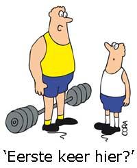 Afbeeldingsresultaat voor sportschool cartoon