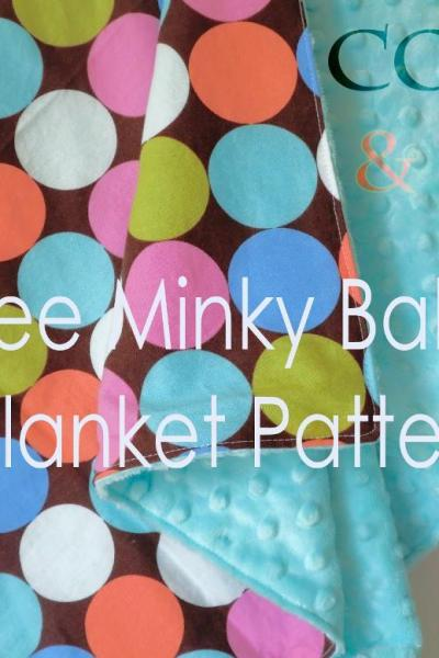 FREE Baby Blanket Sewing Pattern – DIY Minky Baby Blanket