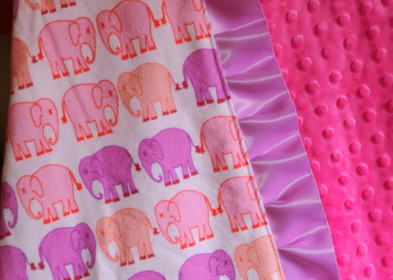 how to sew a ruffle minky baby blanket diy tutorial