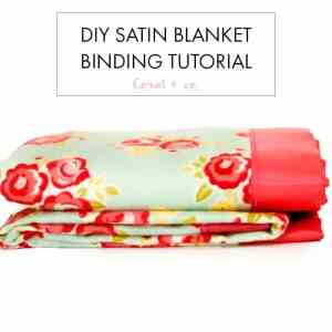 How to Sew Blanket Binding on a Baby Blanket Tutorial