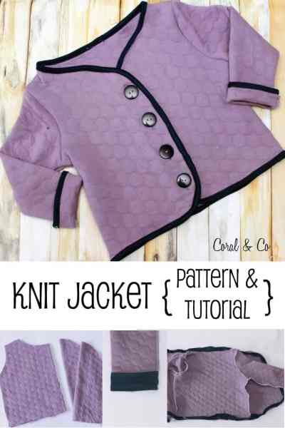 Girls Free Knit Coat Pattern and Tutorial