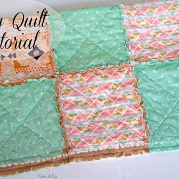 DIY Rag quilt tutorial with a modern touch. Quick and easy quilt made by coral and co.