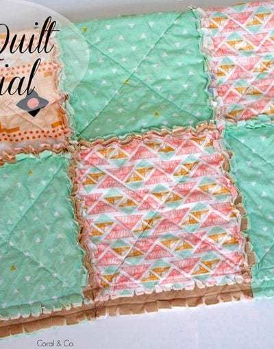DIY Rag Quilt Tutorial with a Modern Touch