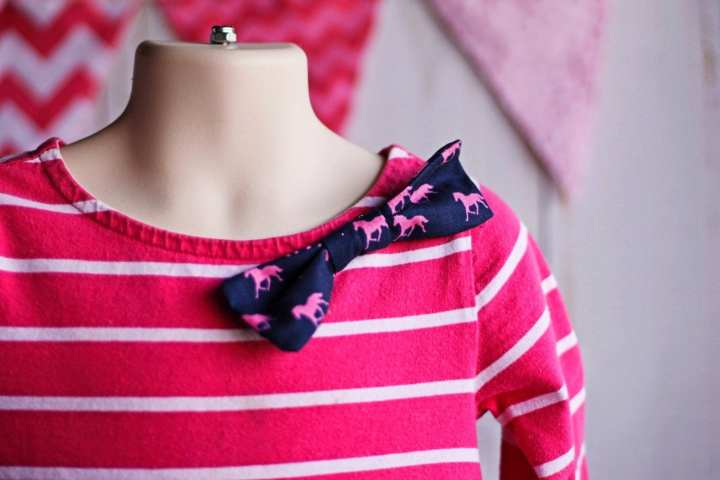 T-shirt bow dress tutorial and pattern from Coral and Co.