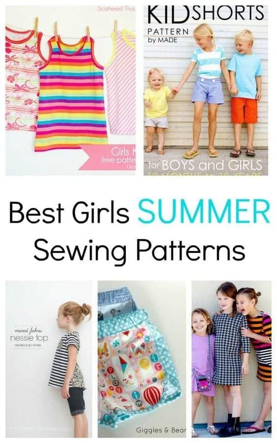 girls summer sewing patterns best