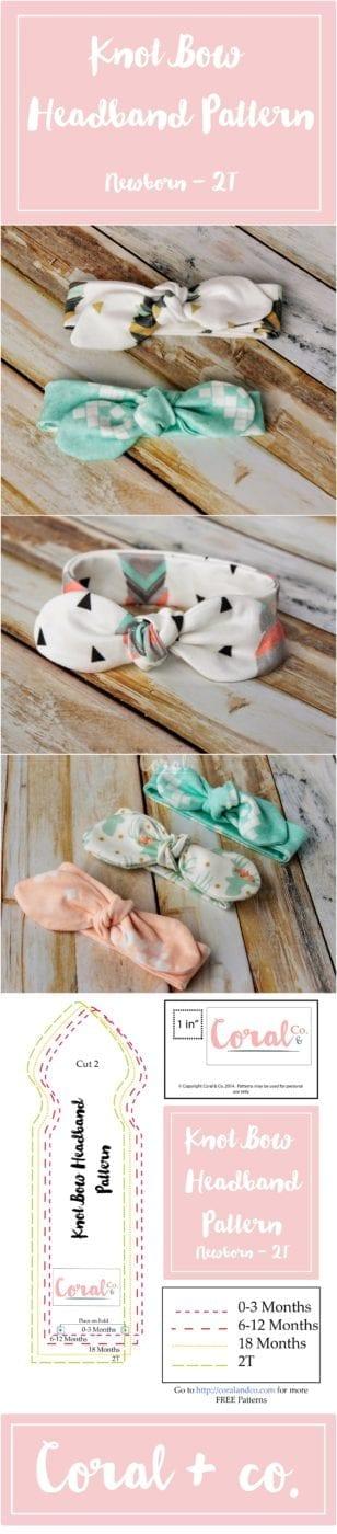 Knot Bow Headband Pattern and Tutorial - Easy DIY baby headband ...
