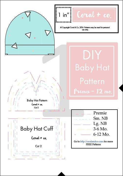 picture regarding Free Printable Scrub Hat Patterns referred to as Do-it-yourself Little one Hat Sewing Behavior and Guidebook - Knit Boy or girl Hat