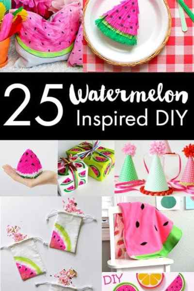 25 DIY Watermelon Craft Ideas To Make Or Sew
