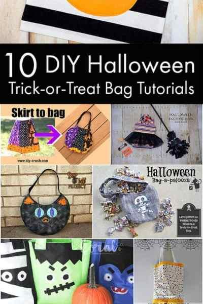 10 DIY Halloween Trick or Treat Bag Tutorials – Halloween Bag-A-Palooza Roundup