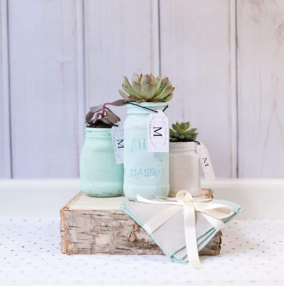 Diy Mother S Day Mason Jar Planter And A Free Printable Gift Tag