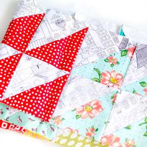 Half Square Triangles from a Jelly Roll – The Strip Piecing Half Square Triangle Method Tutorial