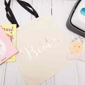How To Use The Cricut Easy Press and Free Books SVG for Library Bag