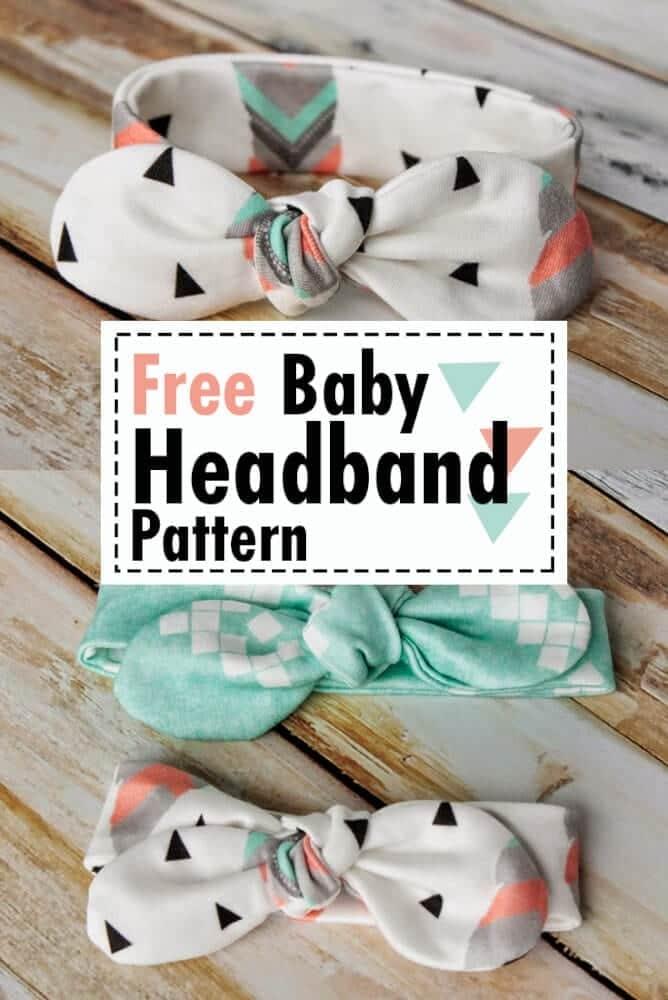 Easy Diy Baby Headband Pattern Free Sewing Knot Bow Headband