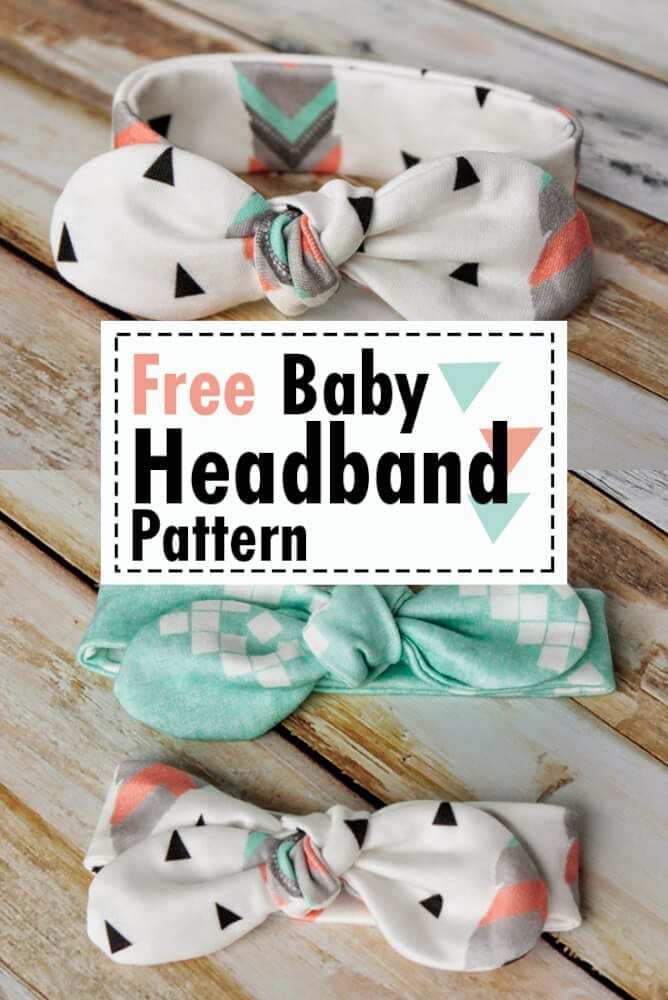 Free Baby Headband Pattern, one of 20 free baby sewing patterns
