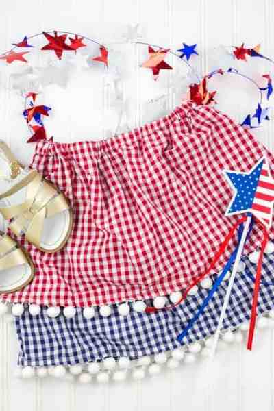 Free 4th of July Skirt Pattern and Tutorial