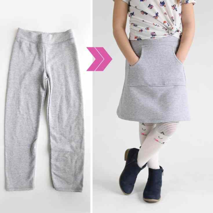 How to make a sweatpant skirt {goodbye old sweats, hello cute skirt!}