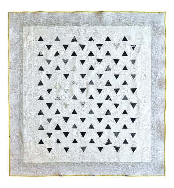 Minimal Triangles Quilt Pattern PDF Download - Easy Sewing for Beginners Scrappy Quilting Designs for Baby, Throw and Twin Sizes