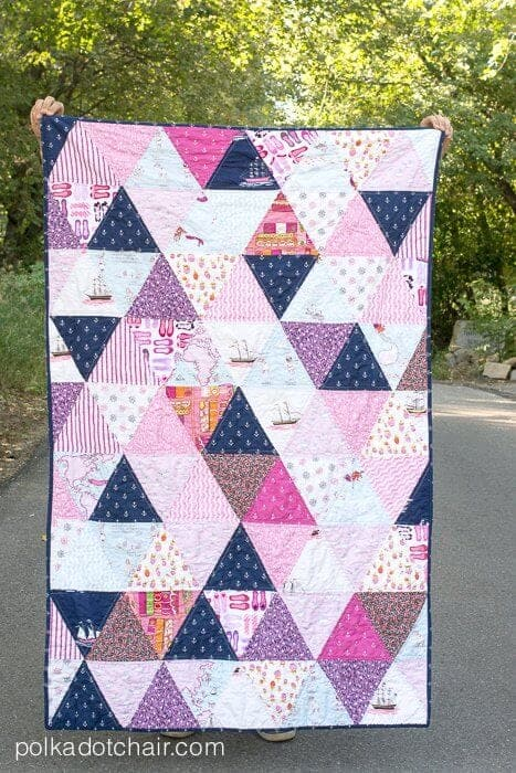 How to make a Triangle Quilt on the Polka Dot Chair Blog