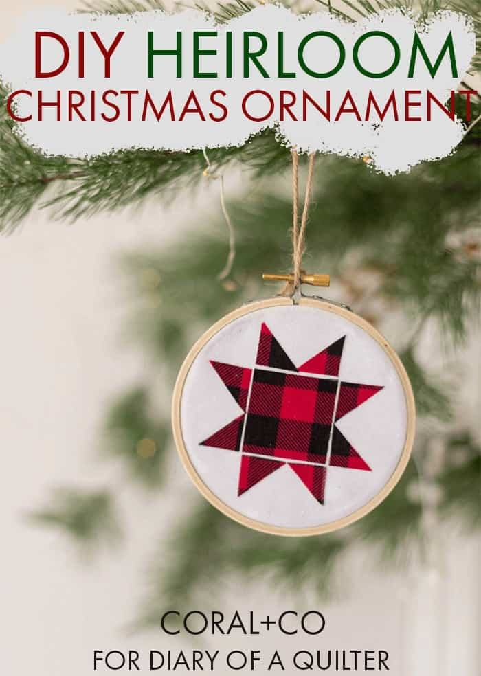 DIY Heirloom Christmas Ornament | quilting