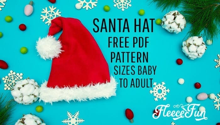 Santa Hat How to with Free Pattern and Video Tutorial