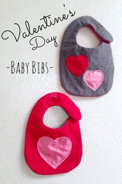 Quick and Simple Valentine's Baby Bibs