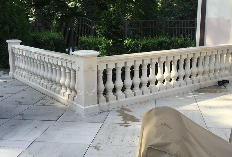 Concrete Balustrade Porch Railings Stair Railings Stair Balusters   Railing For Concrete Patio   Wood   Vinyl   Custom   Rectangle Concrete   Deck