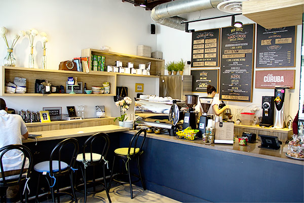 My favorite spot to work from in Coral Gables is Cafe Curuba. If you haven't heard of Cafe Curuba, you need to go visit this adorable neighborhood coffee shop.
