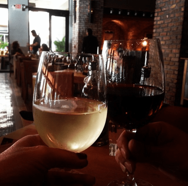 Cibo, 45 Miracle Mile. Cibo hosts happy hour every day of the week from 4pm-7pm with half off all beers, wines and liquor but on Mondays they also have their Pizza & Peroni for $10 and on Thursdays its ladies night when ladies drink free. #GirlPower!