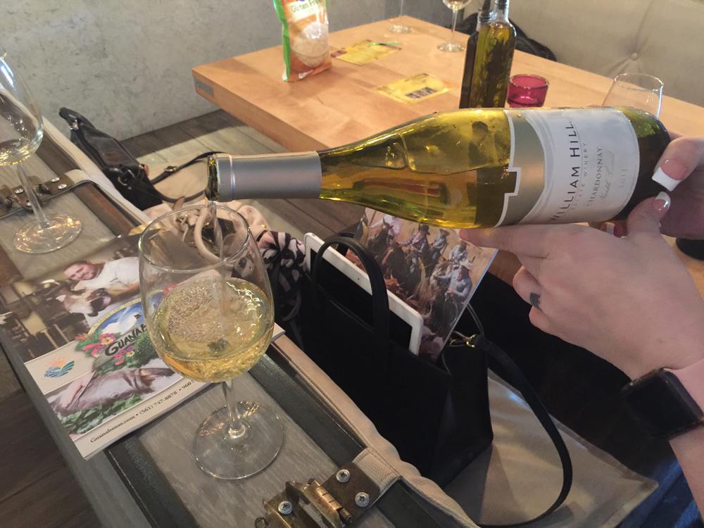 Cibo Wine pouring William Hill wine.
