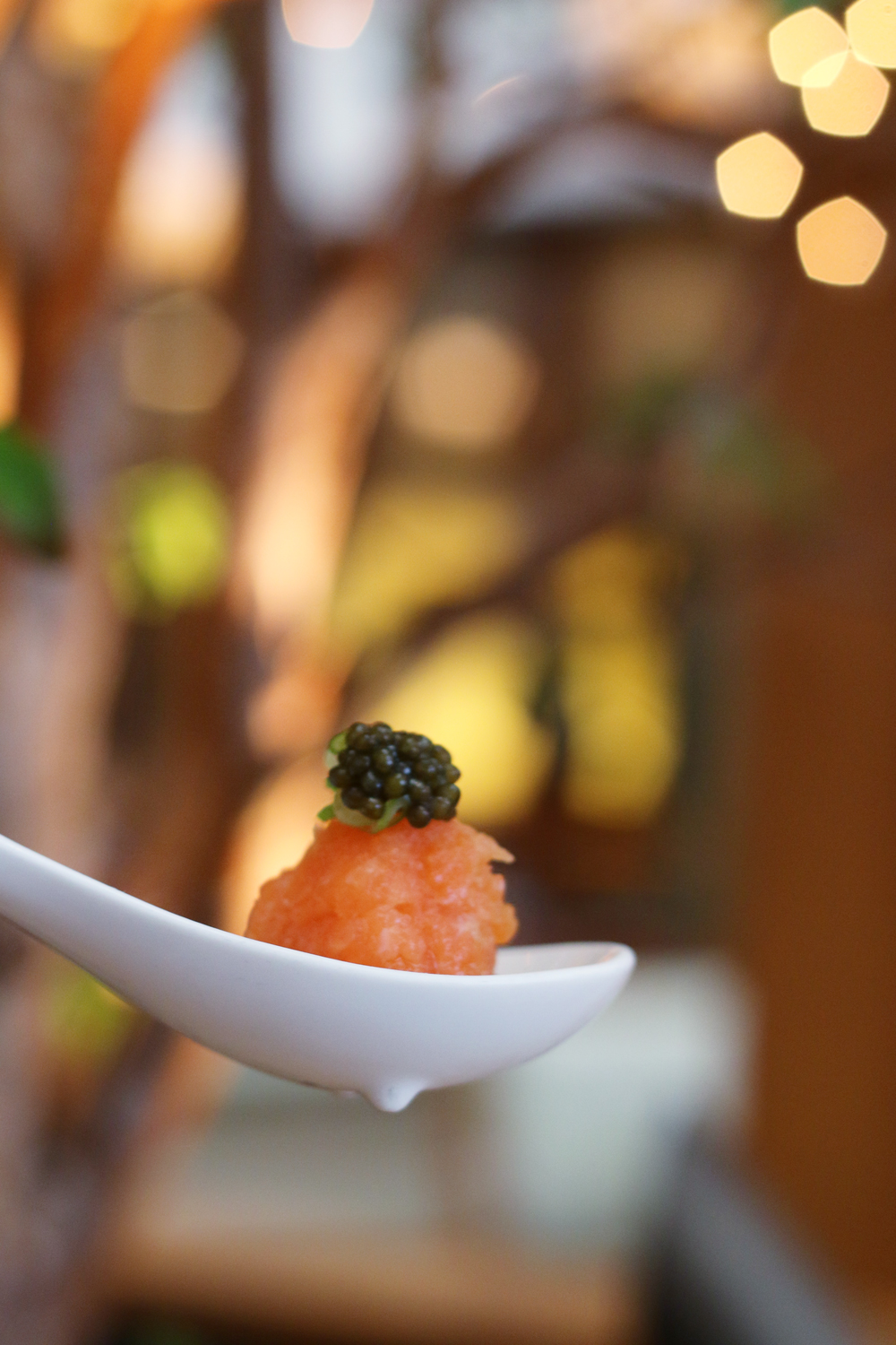 Nobu Miami at Eden Roc Hotel prix-fixe menu Salmon Tartare with Caviar
